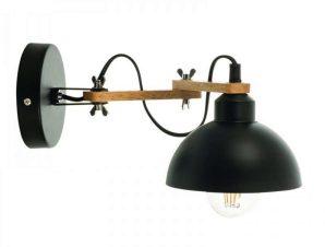 Φωτιστικό Τοίχου-Απλίκα 43382 34x17cm 1xΕ27 Black Inlight