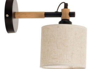 Φωτιστικό Τοίχου-Απλίκα 43383 25x24cm 1xΕ27 Black Inlight