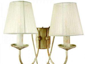 Φωτιστικό Τοίχου-Απλίκα 43359-2 30x30cm 2xE14 Antique White Inlight