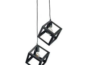 Φωτιστικό Οροφής 4400-2 Φ20cm 2xΕ27 Black Inlight