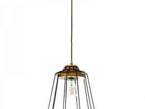 Φωτιστικό Οροφής 4388 25x28cm 1xΕ27 Black Inlight