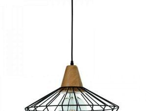 Φωτιστικό Οροφής 4389 40x30cm 1xΕ27 Black Inlight