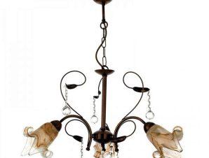 Φωτιστικό Οροφής 5300-3 60x25cm 3xΕ14 Bronze Inlight
