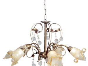 Φωτιστικό Οροφής 5300-5 60x40cm 5xΕ14 Bronze Inlight