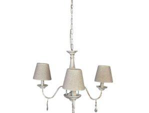Φωτιστικό Οροφής 5010-3 55x30cm 3xΕ14 Antique White Inlight