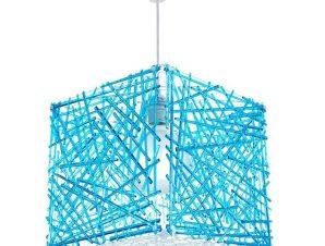 Φωτιστικό Οροφής 4339 30x30cm 1xΕ27 Blue Inlight