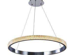 Φωτιστικό Οροφής Led 6033-Β Φ60cm 4500Lm Chrome Inlight