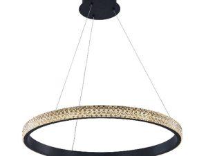 Φωτιστικό Οροφής Led 6032-Β Φ60cm 4500Lm Black Inlight
