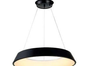 Φωτιστικό Οροφής Led 6010-Β 50,5x9cm 3000Lm Black Inlight