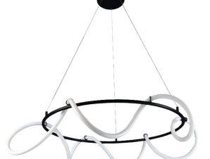 Φωτιστικό Οροφής Led 6016-Β 60cm 4800Lm Black Inlight