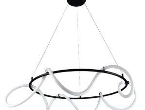 Φωτιστικό Οροφής Led 6016-Α 80cm 6400Lm Black Inlight