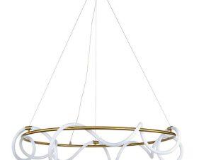 Φωτιστικό Οροφής Led 6017-Α 80cm 6400Lm Gold Inlight