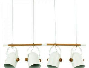 Φωτιστικό Οροφής-Ράγα 6130-4 77x102cm 4xΕ27 White Inlight