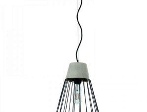 Φωτιστικό Οροφής 4405 25x30cm 1xΕ27 Black-Grey Inlight