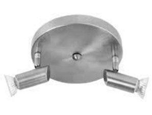 Φωτιστικό Οροφής-Σποτ 9075-2 17x7cm 2xGU10 Nickel Inlight