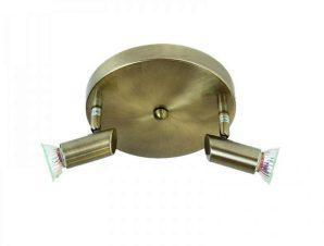 Φωτιστικό Οροφής-Σποτ 9075-2 17x7cm 2xGU10 Bronze Inlight