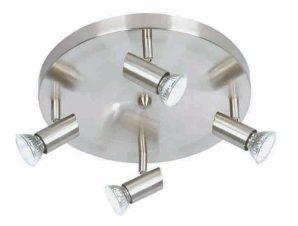 Φωτιστικό Οροφής-Σποτ 9075-4 30x7cm 4xGU10 Nickel Inlight