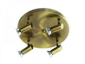Φωτιστικό Οροφής-Σποτ 9075-4 30x7cm 4xGU10 Bronze Inlight