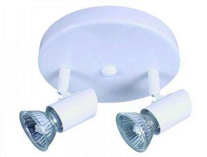 Φωτιστικό Οροφής-Σποτ 9077-2 17x7cm 2xGU10 White Inlight