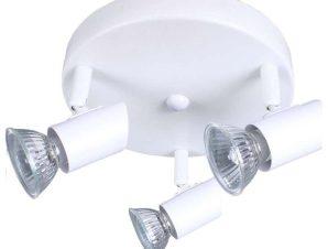 Φωτιστικό Οροφής-Σποτ 90773 25x7cm 3xGU10 White Inlight