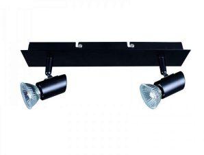 Φωτιστικό Οροφής-Σποτ 9078-2 23x7cm 2xGU10 Black Inlight
