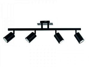 Φωτιστικό Οροφής-Σποτ 9081-4 70×22 4xGU10 Black Inlight