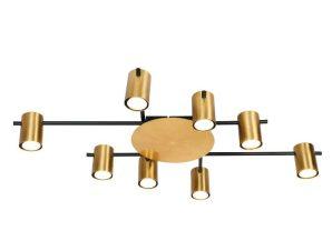 Φωτιστικό Οροφής-Σποτ 9085-8 70x40cm 8xGU10 Black-Gold Inlight