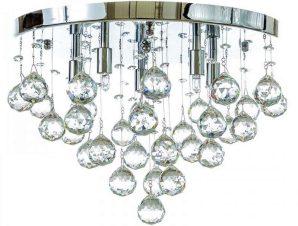 Φωτιστικό Οροφής-Πλαφονιέρα 5292-Α-8/Φ 50x30cm 8xG9 Chrome Inlight