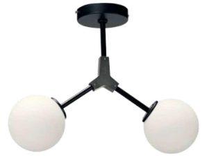 Φωτιστικό Οροφής-Πλαφονιέρα 6167-2 40x40cm 2xG9 Black-Silver Inlight