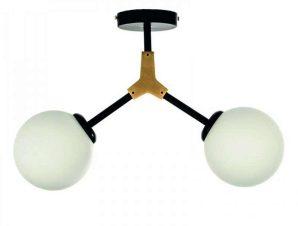 Φωτιστικό Οροφής-Πλαφονιέρα 6167-2 110x70cm 2xG9 Black-Gold Inlight