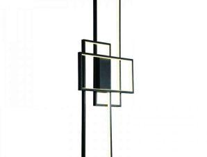 Φωτιστικό Τοίχου-Οροφής Led 6158 40x100cm 6000Lm Black Inlight