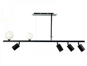 Φωτιστικό Οροφής-Ράγα 6168 110x70cm 2xG9 & 4xGU10 Black-White Inlight