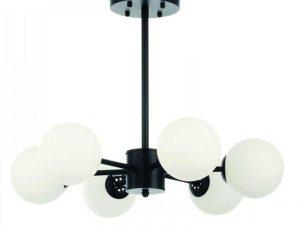 Φωτιστικό Οροφής 5315-6 55x75cm 6xG9 Black-White Inlight