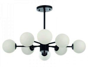 Φωτιστικό Οροφής 5315-8 75x75cm 8xG9 Black-White Inlight