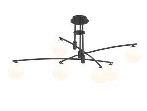 Φωτιστικό Οροφής 6036-6 100x40cm 6xG9 Black-White Inlight
