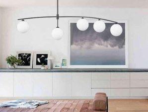 Φωτιστικό Οροφής-Ράγα 6037-5 140x80cm 5xG9 Black-White Inlight