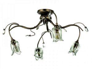 Φωτιστικό Οροφής-Πλαφονιέρα 5223-4/Φ 50x23cm 4xG9 Bronze Inlight