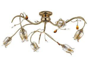 Φωτιστικό Οροφής-Πλαφονιέρα 5223-6/Φ 70x25cm 6xG9 Gold Inlight