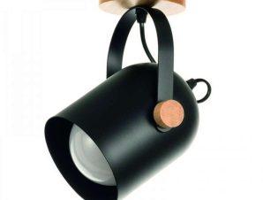 Φωτιστικό Οροφής-Πλαφονιέρα 6133-1 11,5x22cm 1xΕ27 Black Inlight