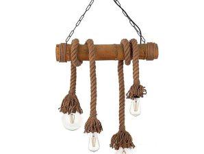 Φωτιστικό Οροφής-Ράγα 5307-4 60x105cm 4xΕ27 Natural Inlight