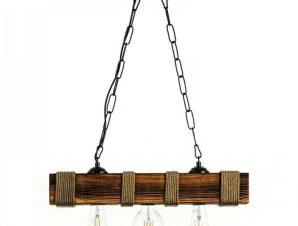 Φωτιστικό Οροφής 5318-3 50x80cm 3xΕ27 Natural Inlight