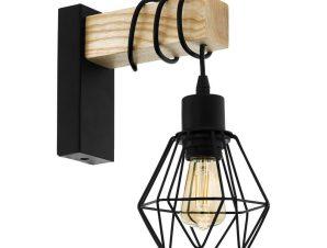 Φωτιστικό Τοίχου – Απλίκα Townshend 5 43135 Black-Brown Eglo