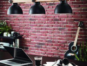 Φωτιστικό Οροφής Ράγα Lubenham 43163 Black-Brown Eglo