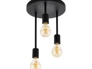 Φωτιστικό Οροφής Πλαφονιέρα Wilmcote 43126 Black Eglo