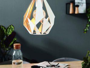 Φωτιστικό Οροφής Κρεμαστό Carlton 1 43001 White-Gold Eglo