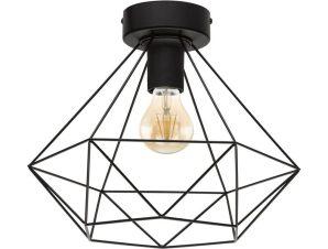 Φωτιστικό Οροφής Πλαφονιέρα Matt Tarbes 43004 Black Eglo