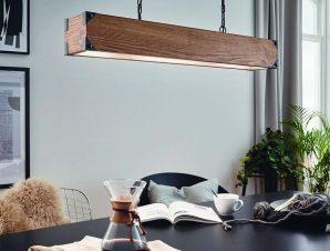 Φωτιστικό Οροφής Κρεμαστό Harborough 43159 Black-Brown Eglo
