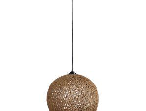 Φωτιστικό Οροφής Silk-02 Φ35 1/L Pendel Ε/27 31-1140 Black-Brown Heronia