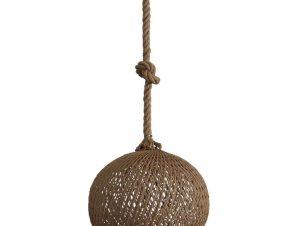 Φωτιστικό Οροφής Silk-02 Φ35 Rope 1/L Ε/27 31-1150 Natural-Brown Heronia