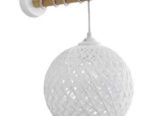 Φωτιστικό Τοίχου-Απλίκα Silk-01/ΑΡ Stick Φ20 31-1156 Natural-White Heronia